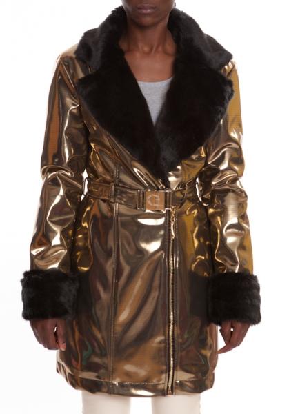 Pelzmantel Gold CRYSTAL GOLD-BLACK