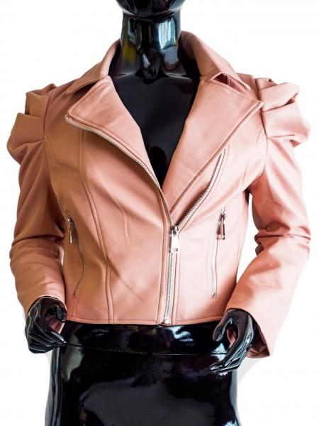 Ride Bike! Rosé – Rosé Faux Leather Jacket Bikerstyle