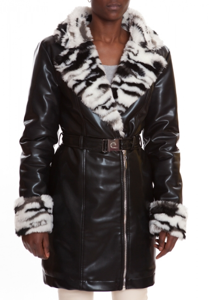 Fur Coat black CRYSTAL BLACK