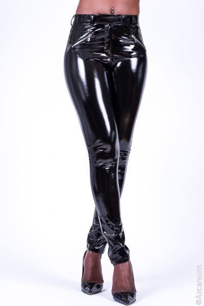 SUPERSHINE! Black Stretch Vinyl Jeggings
