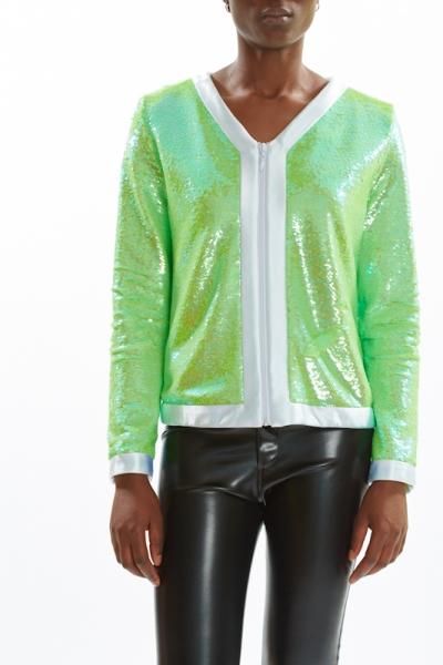 Sequin Jacket PEARL KIWI
