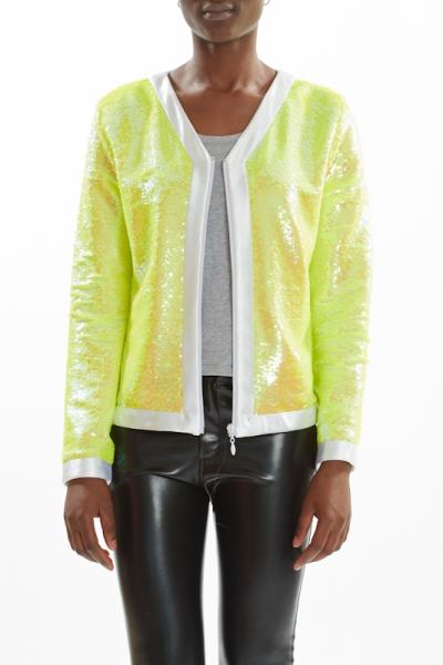 Sequin Jacket PEARL CITRON