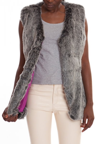 Fur Vest Grey MAMBO CLOUD