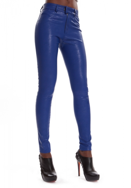 Leder Jeggings Blau SINAH STEEL