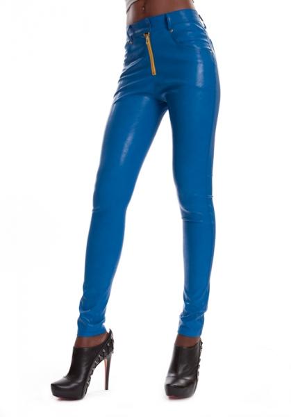 Leder Jeans Blau ESTELLE SKY