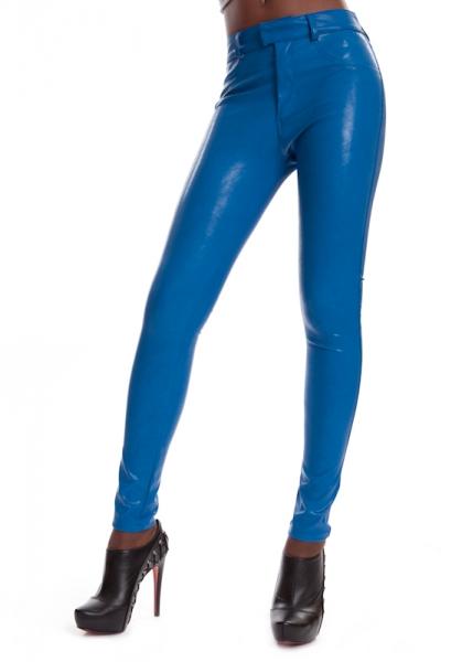Leather Jeggings Blue SINAH SKY