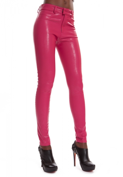 Leder Jeggings Pink SINAH LIP