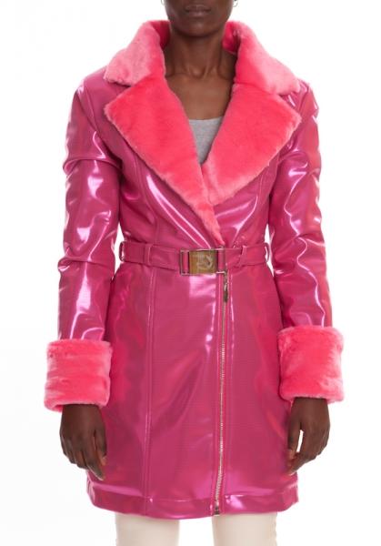 Kunstpelzmantel Pink CRYSTAL PINK