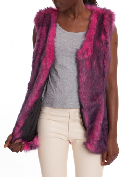 Fur Vest Purple MAMBO PURPLE
