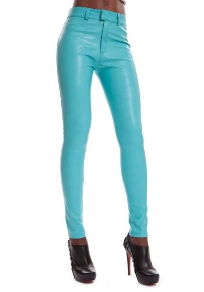 Leather Jeggings SINAH TURQUOISE