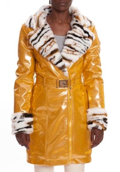 Pelzmantel Gold CRYSTAL GOLD-TIGER