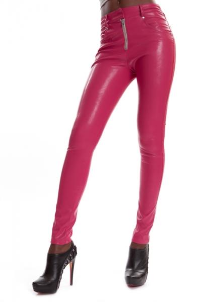 Kunstleder Jeans Pink - ESTELLE LIP