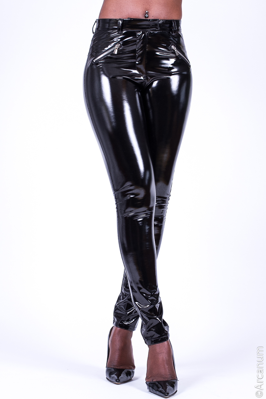 Pvc Leather Trousers Fashion Trend