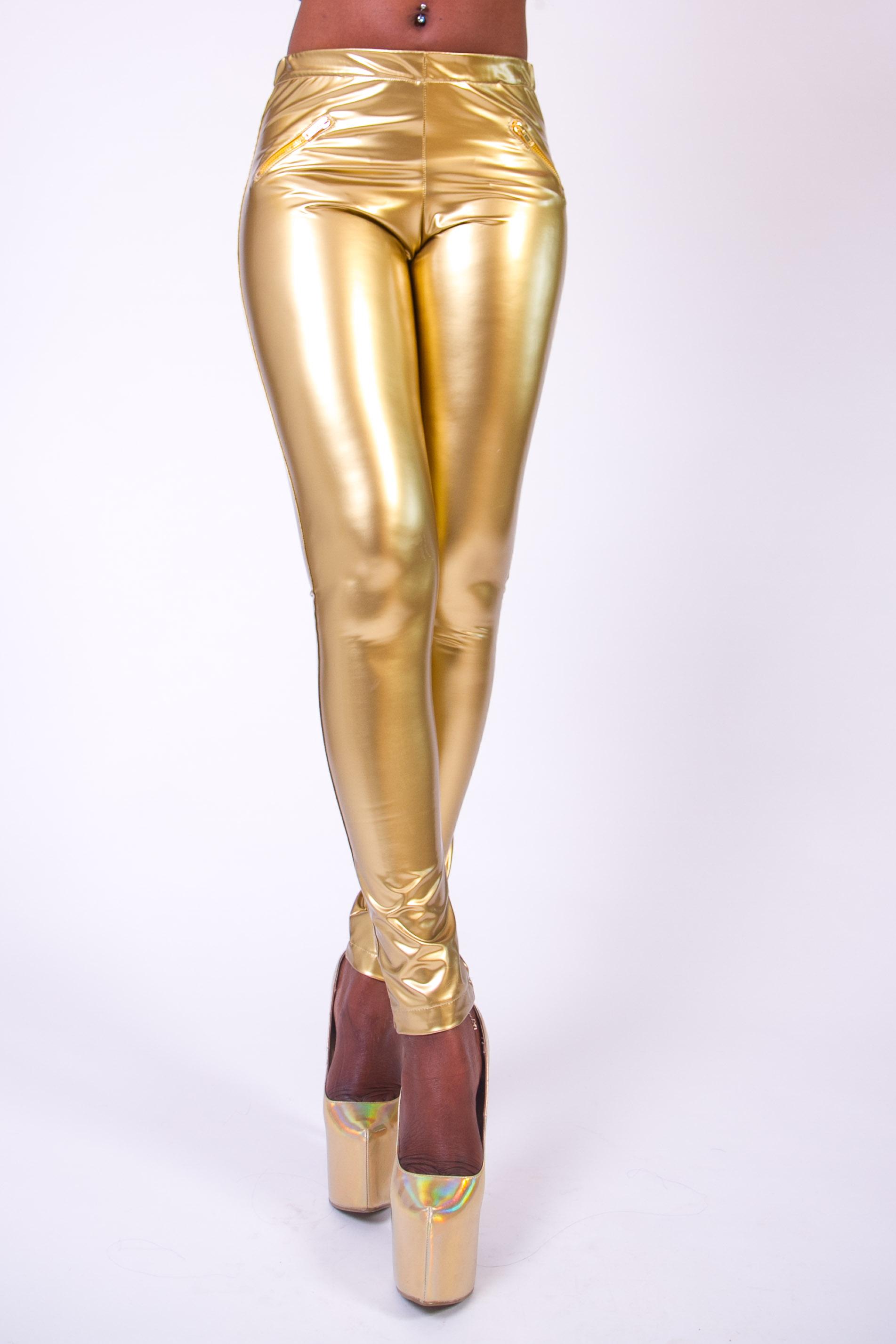 91faed38730e66 Vinyl Leggings Supershine! Gold | Arcanum Fashion