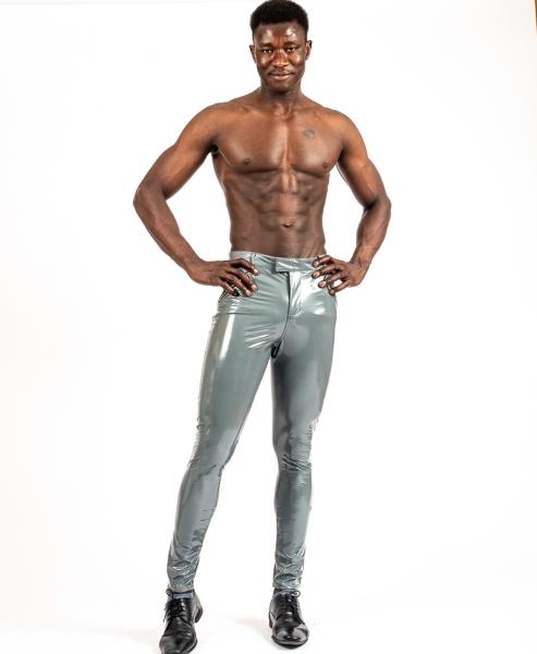 VINYL JEANS SUPERSHINE! CLOUD - Graue Vinyl Jeans für Männer