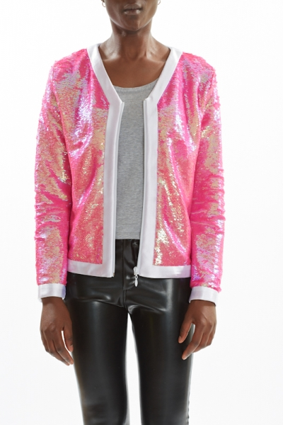 Sequin Jacket PEARL ROSÉ